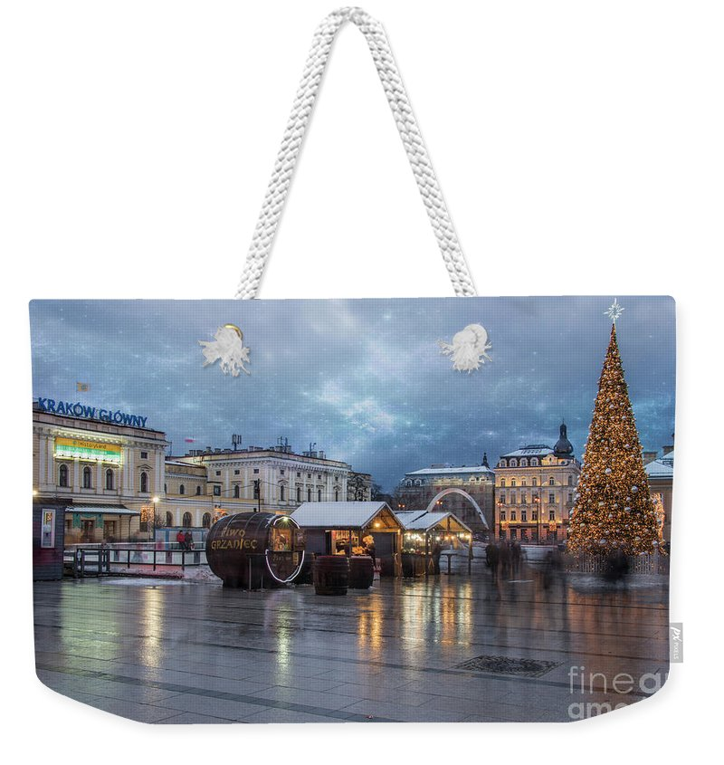 Architecture Weekender Tote Bag featuring the photograph Christmas In Krakow by Juli Scalzi