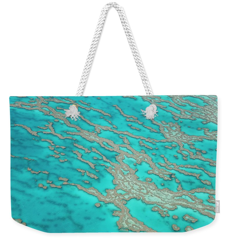 Tranquility Weekender Tote Bag featuring the photograph Great Barrier Reef, Queensland by Peter Adams