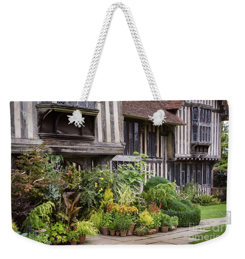 Golden Weekender Tote Bag featuring the photograph Great Dixter House And Gardens by Perry Rodriguez