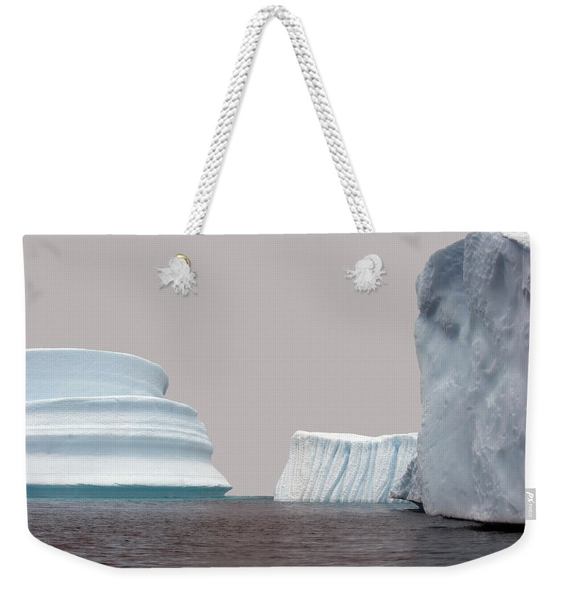 Iceberg Weekender Tote Bag featuring the photograph Iceberg by Jim Julien / Design Pics