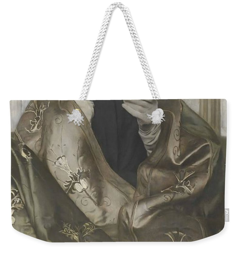 Fernand Khnopff Weekender Tote Bag featuring the painting Incense by Fernand Khnopff