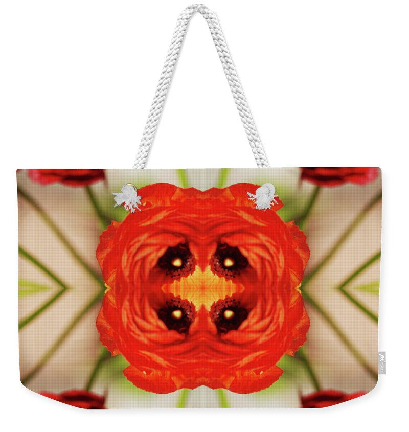 Tranquility Weekender Tote Bag featuring the photograph Ranunculus Flower by Silvia Otte