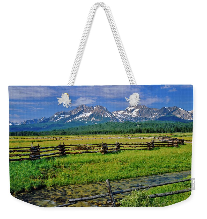 Scenics Weekender Tote Bag featuring the photograph Sawtooth Mountain Range, Idaho by Ron thomas