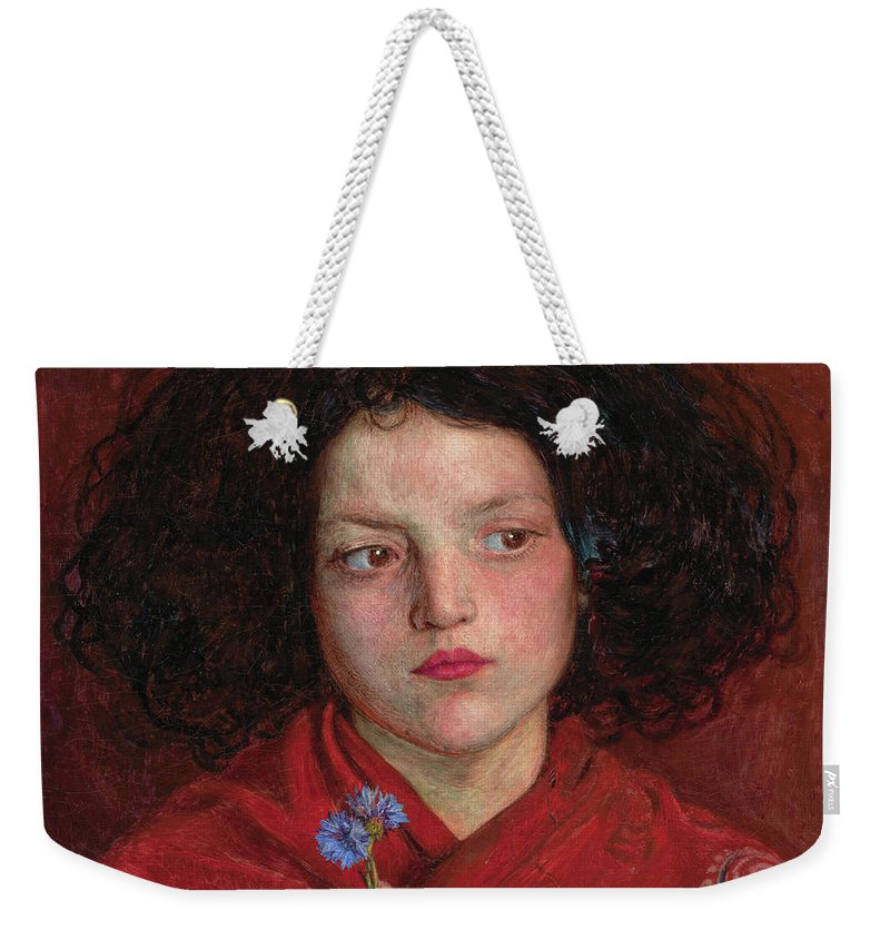 British Weekender Tote Bag featuring the painting The Irish Girl by Ford Madox Brown