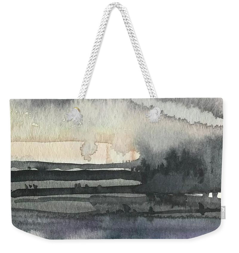 Landscape Weekender Tote Bag featuring the painting Version 2 by Luisa Millicent