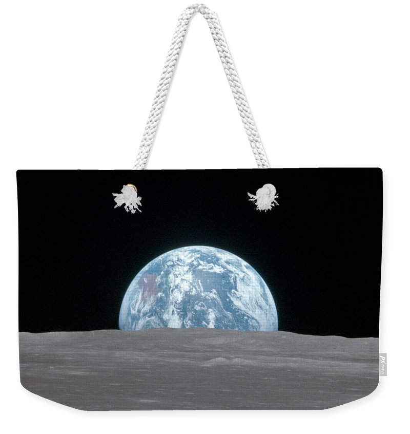 1969 Weekender Tote Bag featuring the photograph Apollo 11, Earthrise, 1969 by Science Source