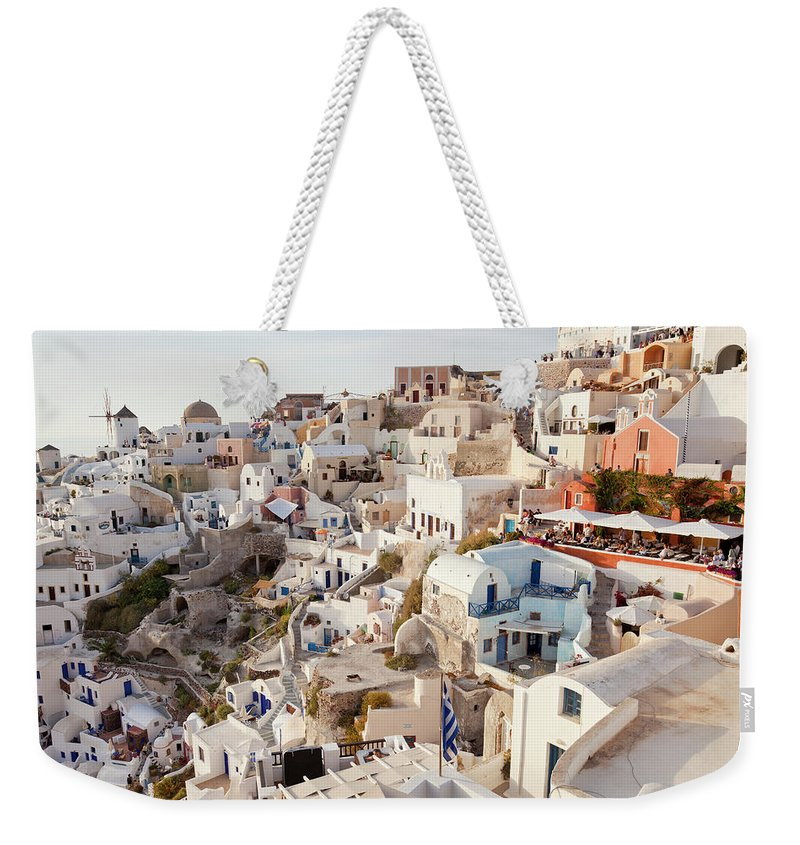Greece Weekender Tote Bag featuring the photograph Oia, Santorini, Cyclades Islands, Greece by Peter Adams
