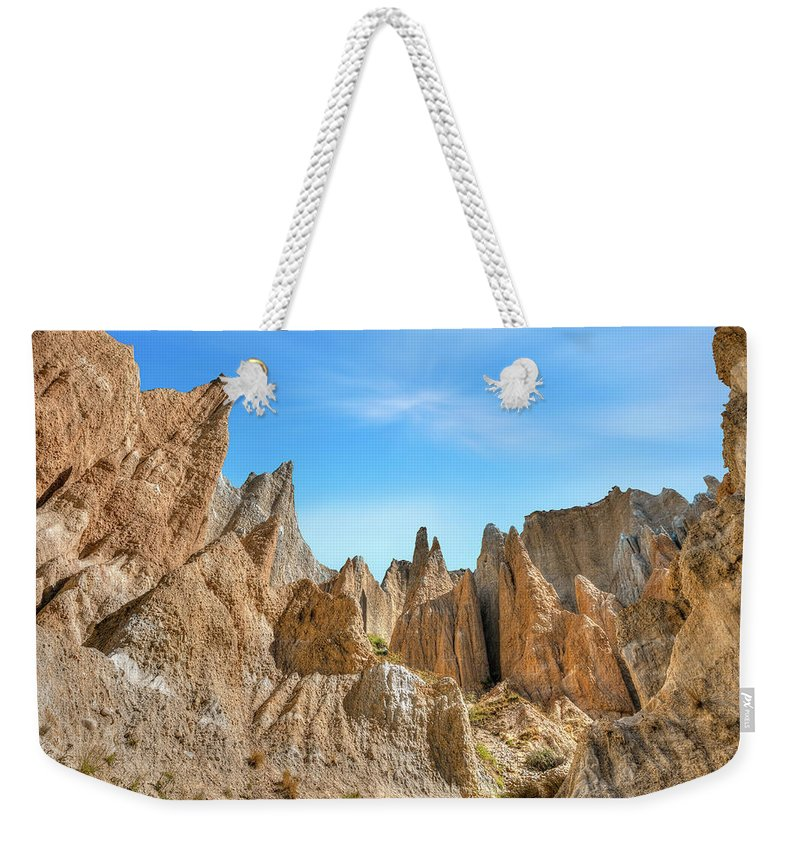 Clay Cliffs Weekender Tote Bag featuring the photograph Omarama - New Zealand by Joana Kruse