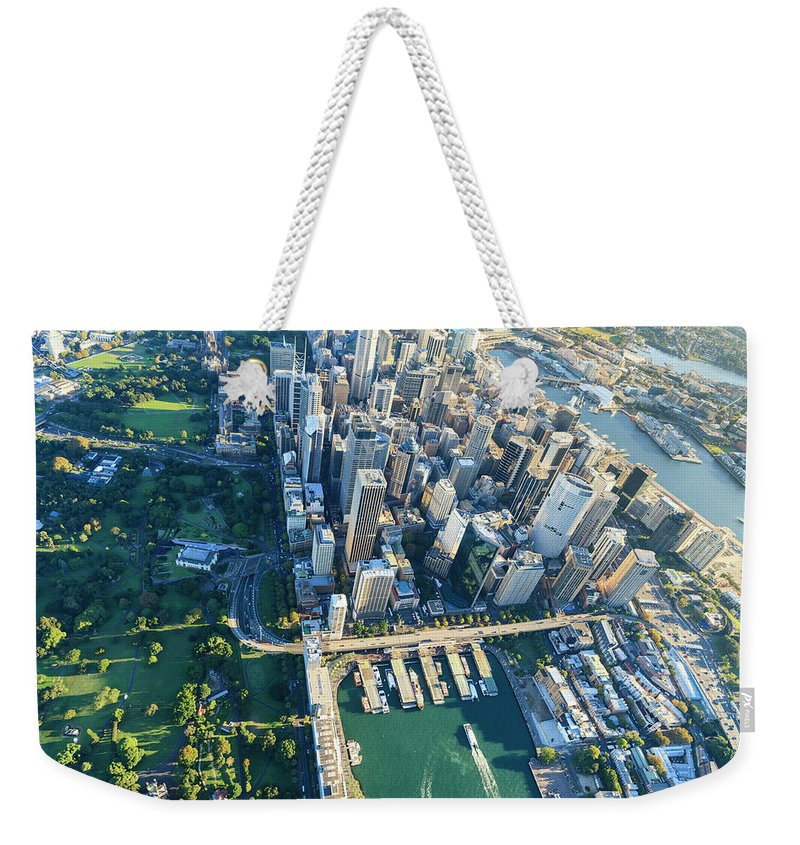 Shadow Weekender Tote Bag featuring the photograph Sydney Downtown - Aerial View by Btrenkel