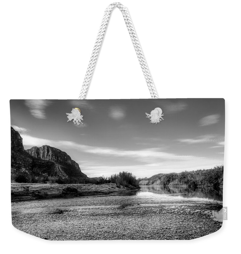 Rio Grande River Weekender Tote Bag featuring the photograph The Rio Grande River by Mountain Dreams