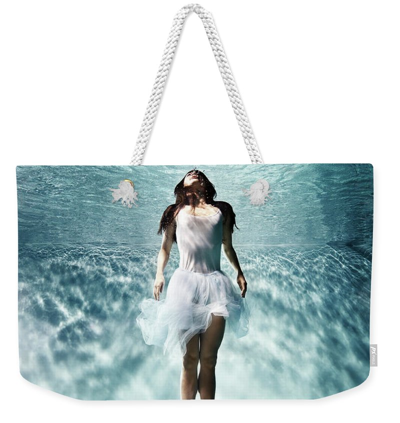 Ballet Dancer Weekender Tote Bag featuring the photograph Underwater Ballet by Henrik Sorensen