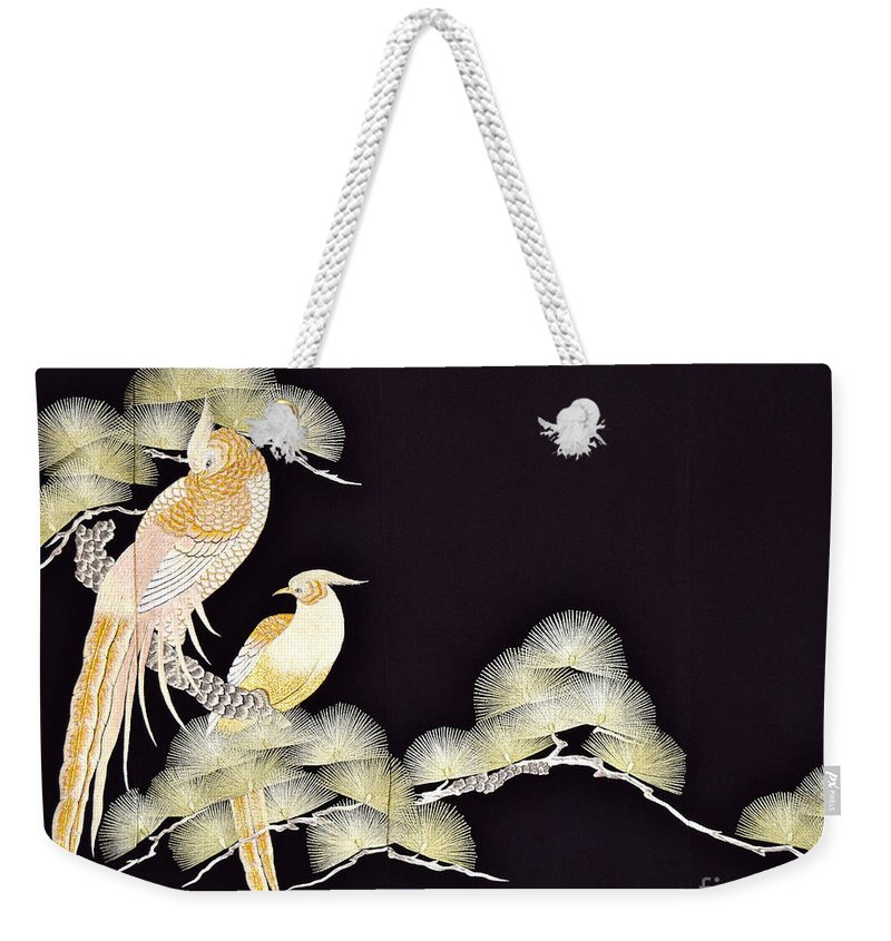 Weekender Tote Bag featuring the tapestry - textile Spirit of Japan T56 by Miho Kanamori