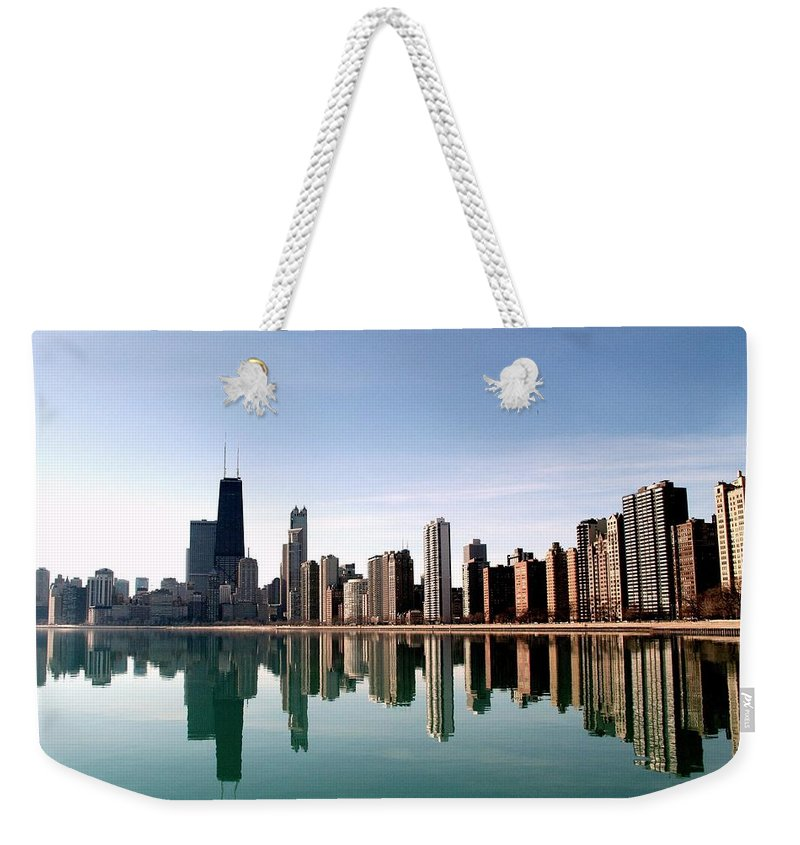 Lake Michigan Weekender Tote Bag featuring the photograph Chicago Skyline by J.castro