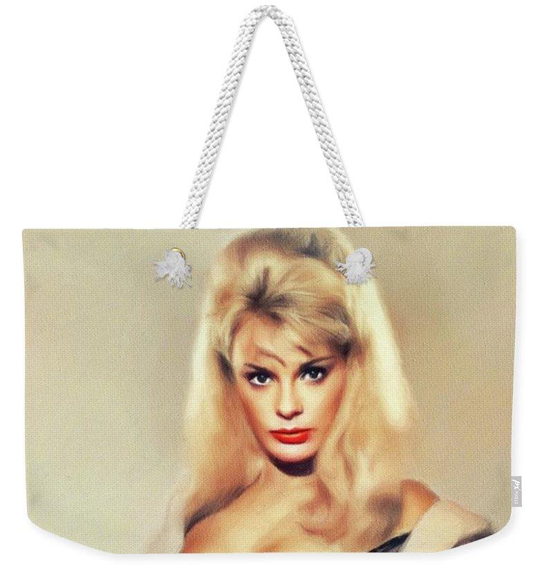Elke Weekender Tote Bag featuring the painting Elke Sommer, Vintage Actress 4 by John Springfield