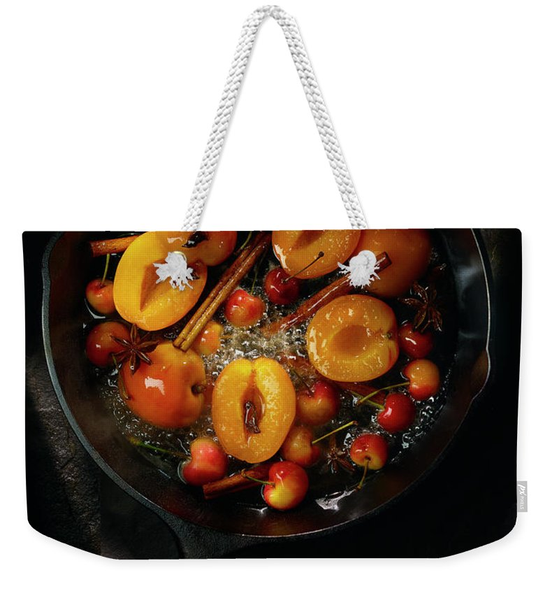 Cherry Weekender Tote Bag featuring the photograph Food by Brian Macdonald