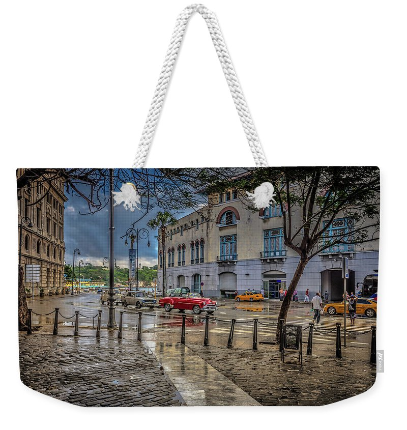 Havana Weekender Tote Bag featuring the photograph Havana by Bill Howard