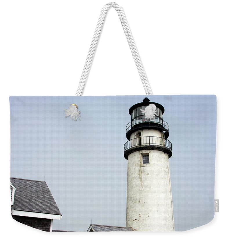 Highland Light Weekender Tote Bag featuring the photograph Highland Light - Cape Cod National Seashore 4 by Brendan Reals