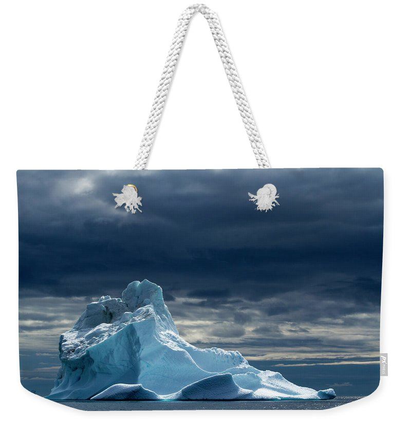 Tranquility Weekender Tote Bag featuring the photograph Icebergs, Disko Bay, Greenland by Paul Souders