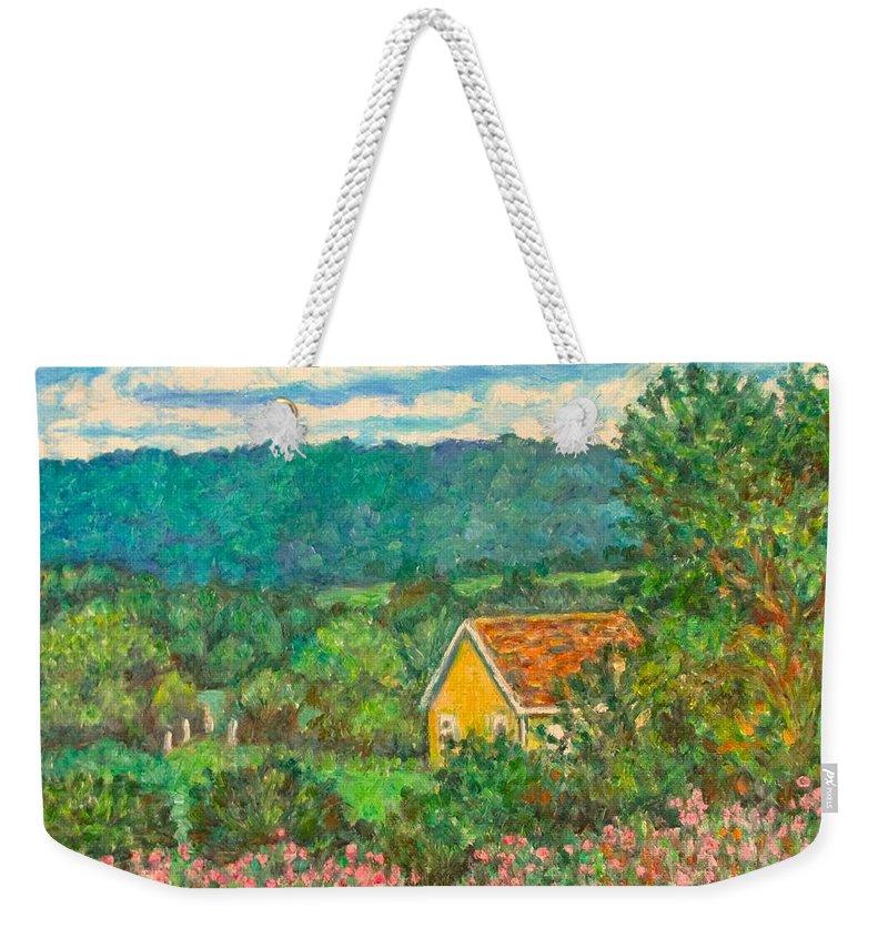 Landscape Weekender Tote Bag featuring the painting 460 by Kendall Kessler