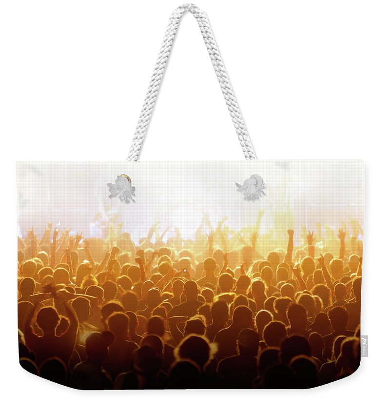 Rock Music Weekender Tote Bag featuring the photograph Concert Crowd by Alenpopov