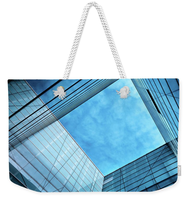 Office Weekender Tote Bag featuring the photograph Modern Glass Architecture by Nikada
