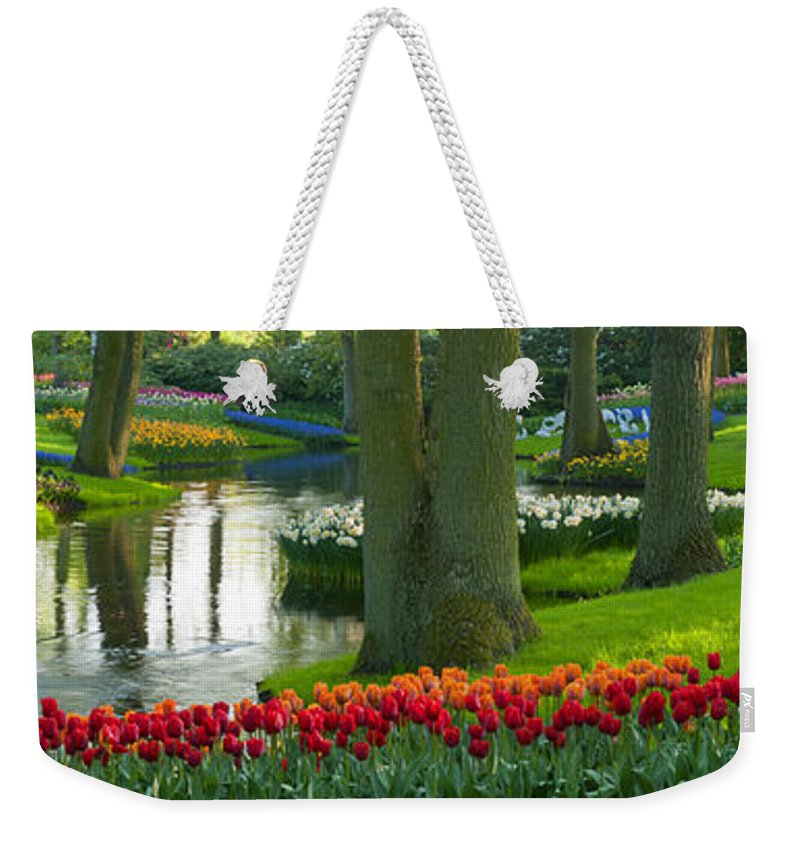 Scenics Weekender Tote Bag featuring the photograph Spring Flowers In A Park by Jacobh