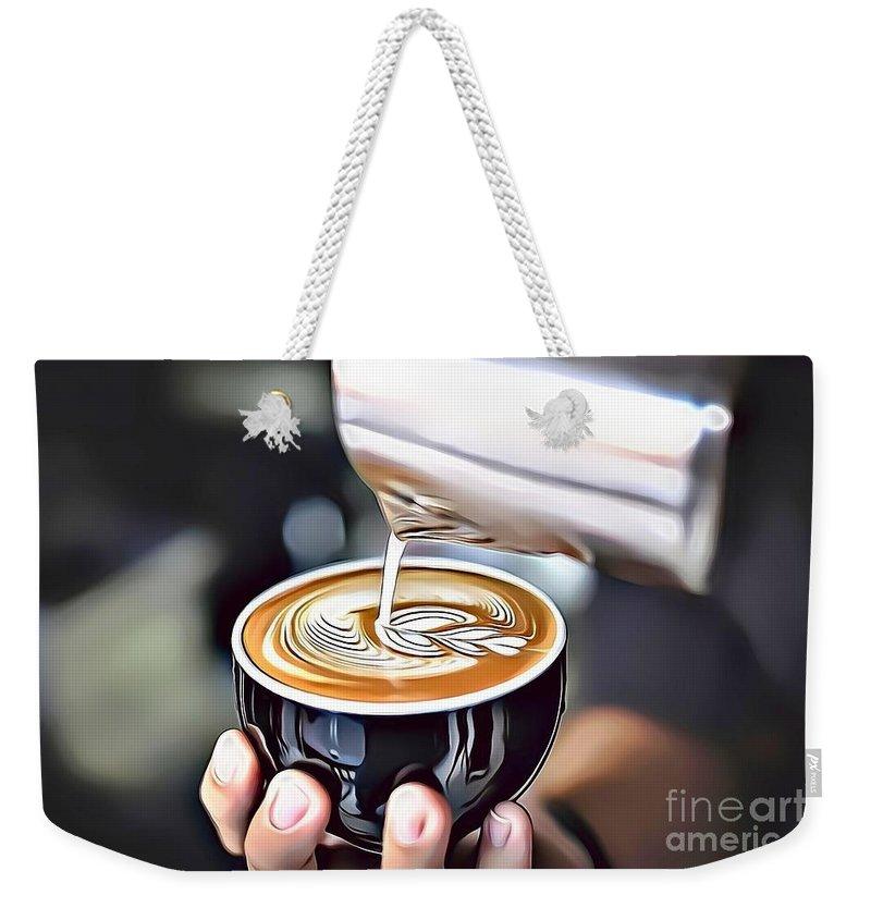 Urban Weekender Tote Bag featuring the digital art 6 Eat Me Now by Leo Rodriguez
