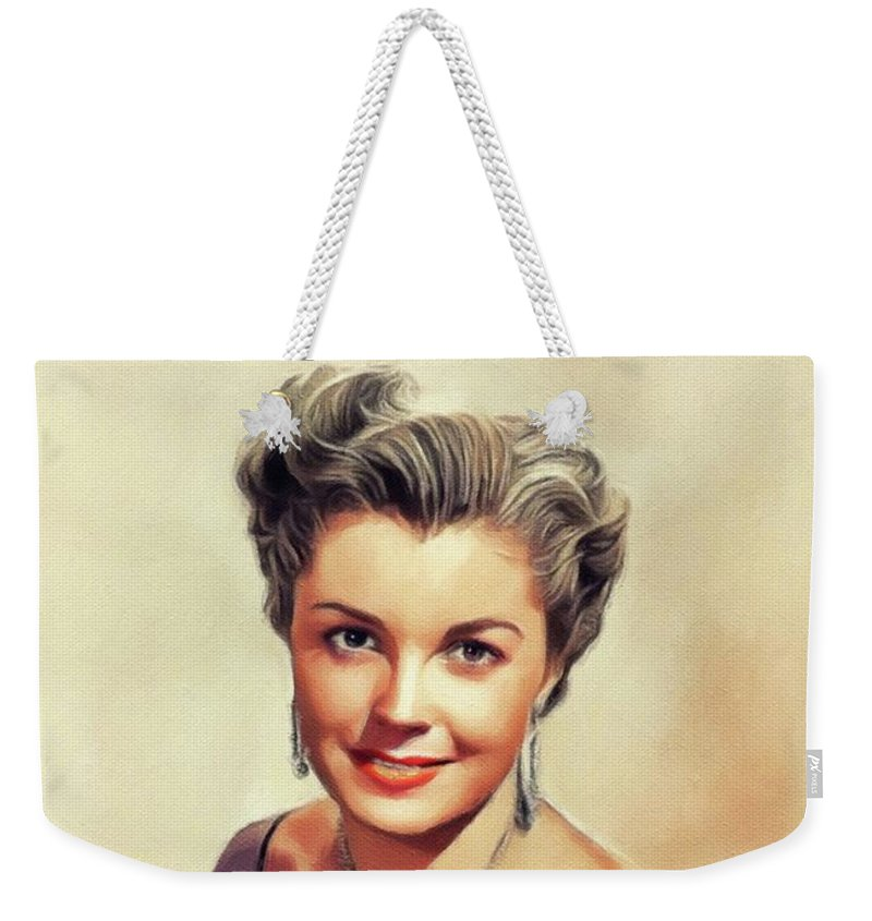 Esther Weekender Tote Bag featuring the painting Esther Williams, Vintage Actress by Esoterica Art Agency