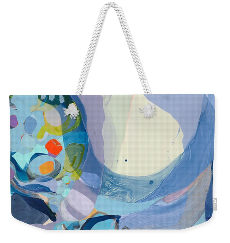 Abstract Weekender Tote Bag featuring the painting 70 Degrees by Claire Desjardins