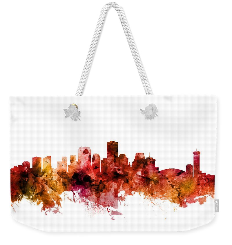 New Orleans Weekender Tote Bag featuring the photograph New Orleans Louisiana Skyline by Michael Tompsett
