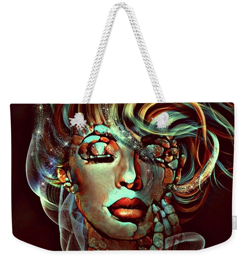 Hue Weekender Tote Bag featuring the mixed media A Life In Colour by G Berry