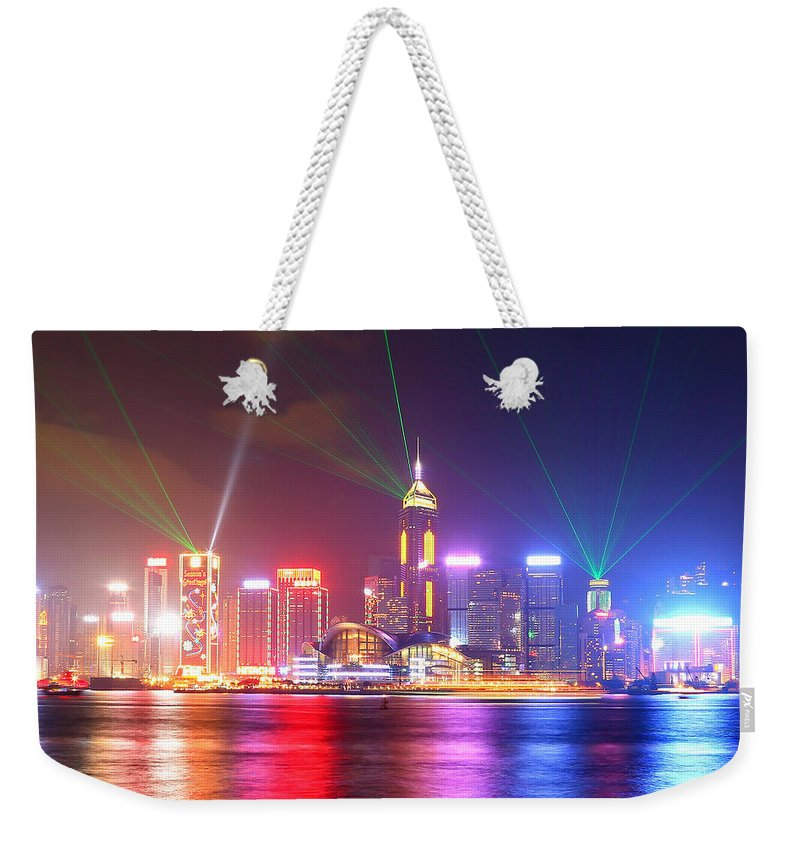 Tranquility Weekender Tote Bag featuring the photograph A Symphony Of Lights by Liu Wai Yip Even