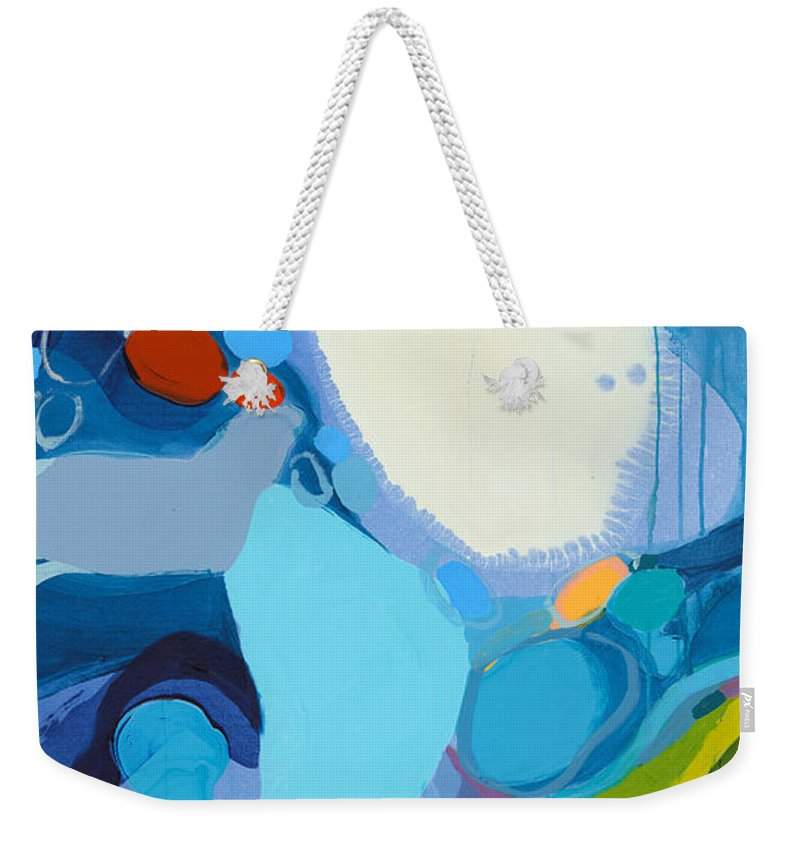 Abstract Weekender Tote Bag featuring the painting A Woman Named Emory by Claire Desjardins