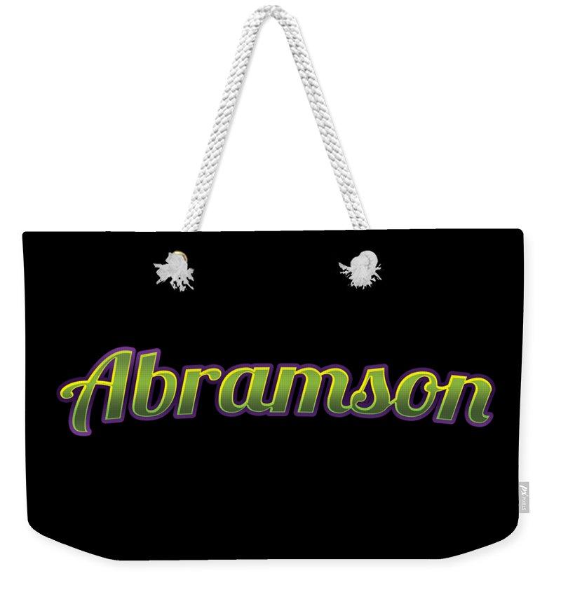 Abramson Weekender Tote Bag featuring the digital art Abramson #abramson by TintoDesigns