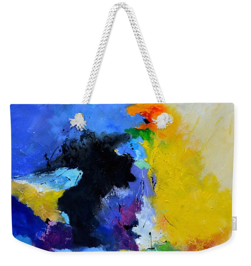 Abstract Weekender Tote Bag featuring the painting Abstract 779130 by Pol Ledent