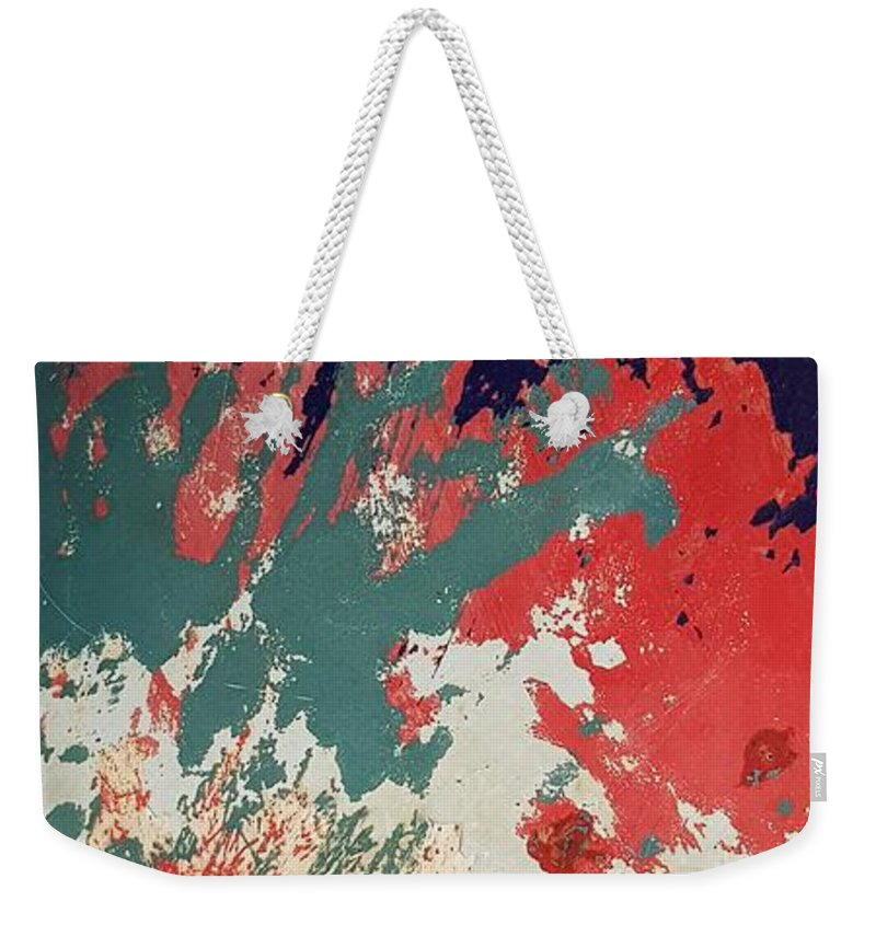 Abstract Weekender Tote Bag featuring the photograph Abstract Boat by Paola Baroni
