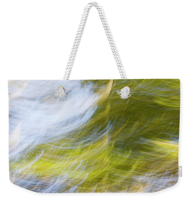 Full Frame Weekender Tote Bag featuring the photograph Abstract Close Up Of Trees by Background Abstracts