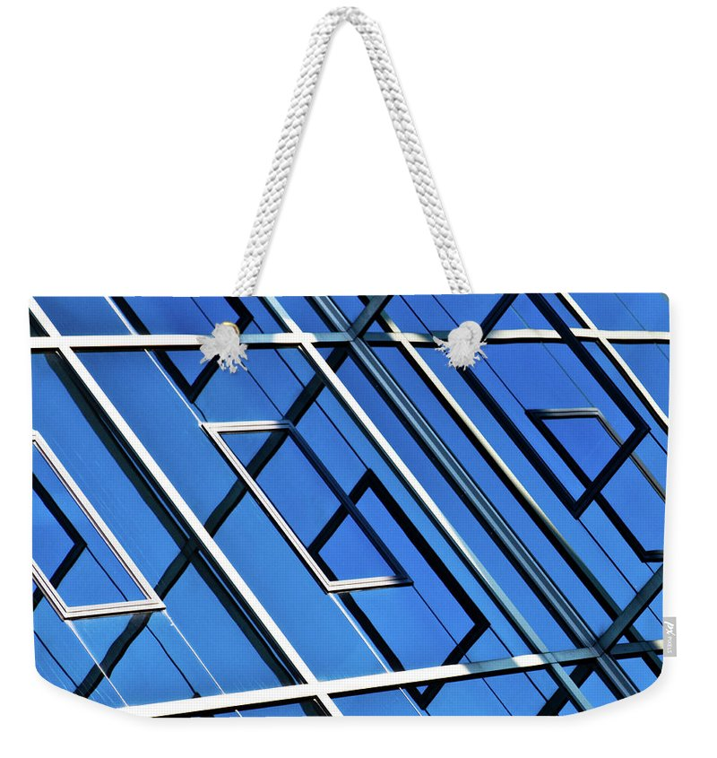 Outdoors Weekender Tote Bag featuring the photograph Abstract Geometric Reflection by By Fabrice Geslin
