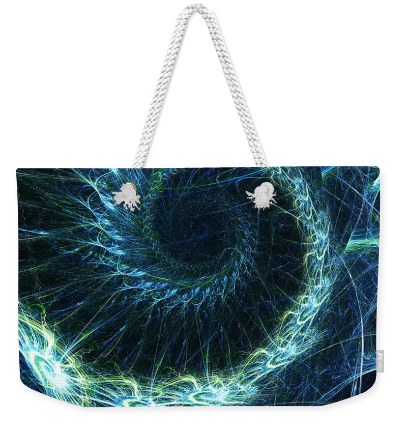 Curve Weekender Tote Bag featuring the photograph Abstract Swirl Pattern by Duncan1890