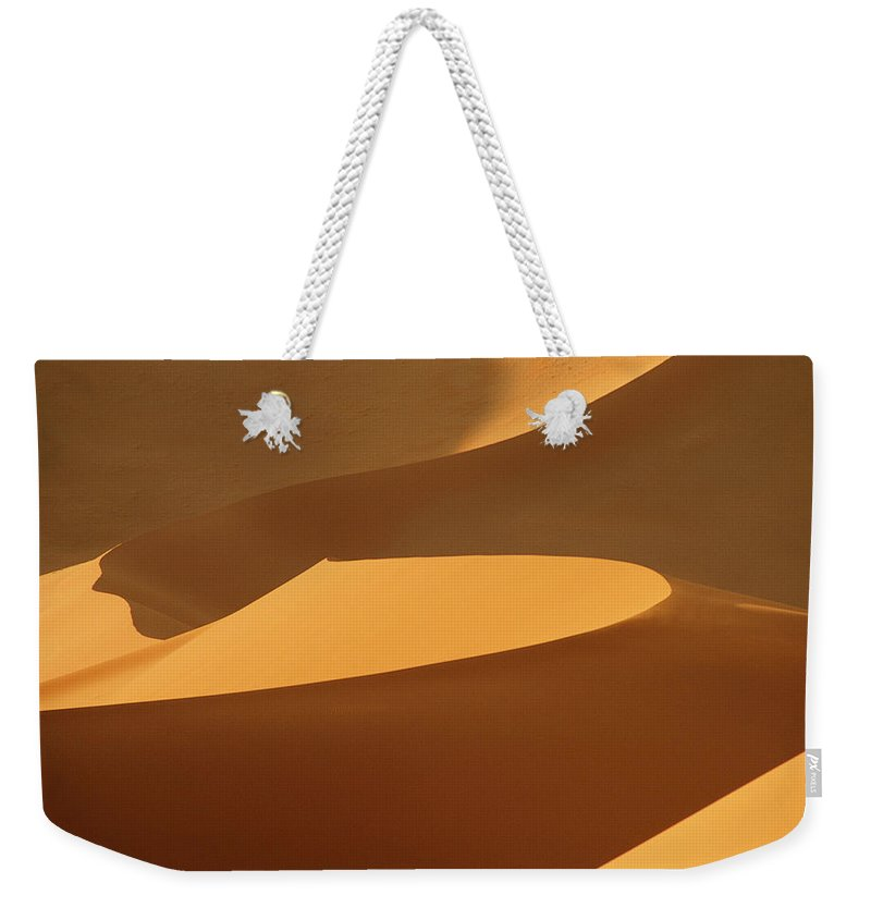 Shadow Weekender Tote Bag featuring the photograph Africa, Namibia, Sand Dunes, Full Frame by Peter Adams