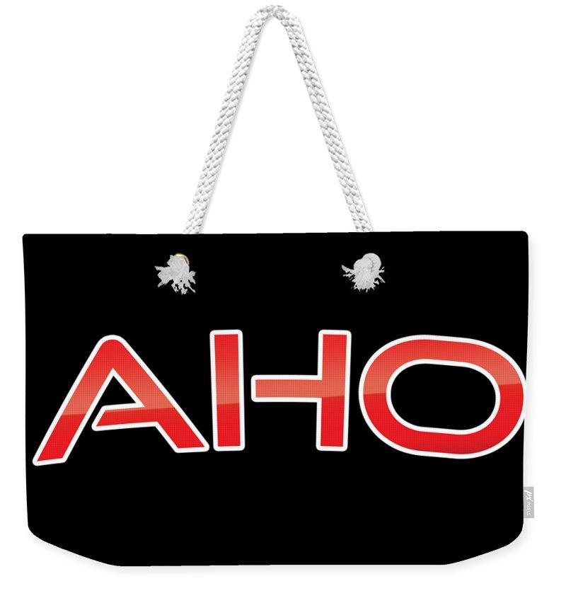 Aho Weekender Tote Bag featuring the digital art Aho by TintoDesigns