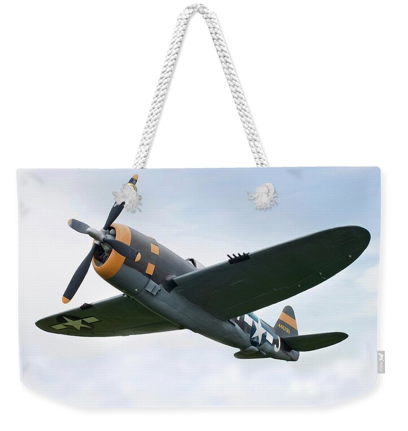 Air Attack Weekender Tote Bag featuring the photograph Airplane P-47 Thunderbolt From World by Okrad