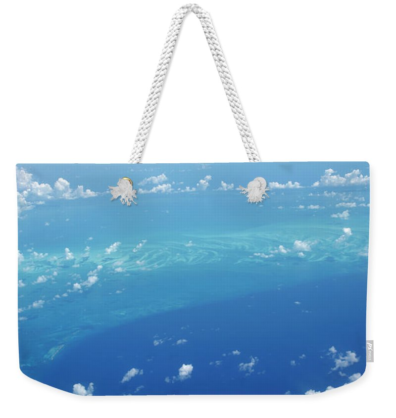 Scenics Weekender Tote Bag featuring the photograph Airplane View Of The Caribbean by Cdwheatley