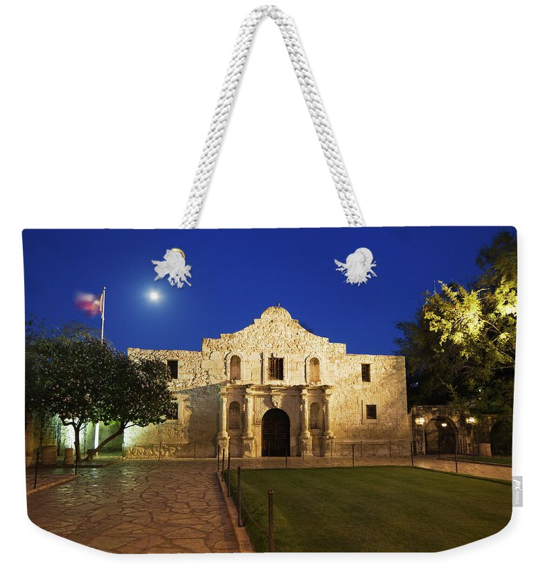 War Weekender Tote Bag featuring the photograph Alamo Mission, San Antonio, A Famous by Yinyang
