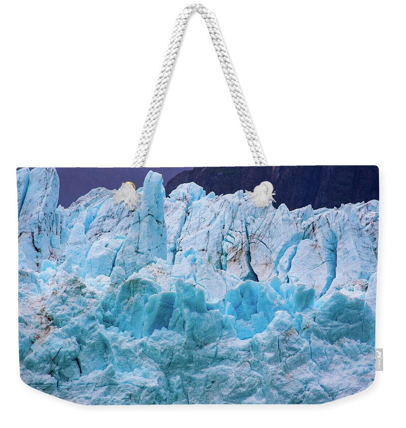 Alaska Weekender Tote Bag featuring the photograph Alaskan Blue by Anthony Jones