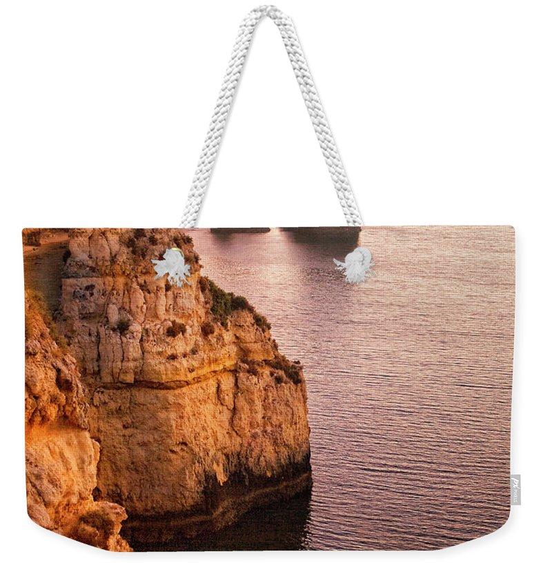 Algarve Weekender Tote Bag featuring the photograph Algarve Coastline, Lagos, Portugal by Zu Sanchez Photography