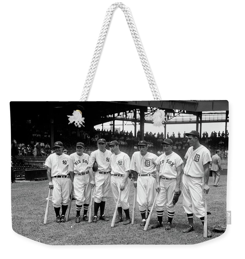 All Stars Crop Final Weekender Tote Bag featuring the painting All Stars Crop Final, 1937 by American School