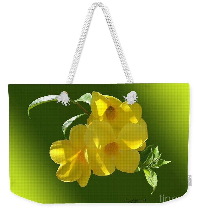 Yellow Trumpet Weekender Tote Bags
