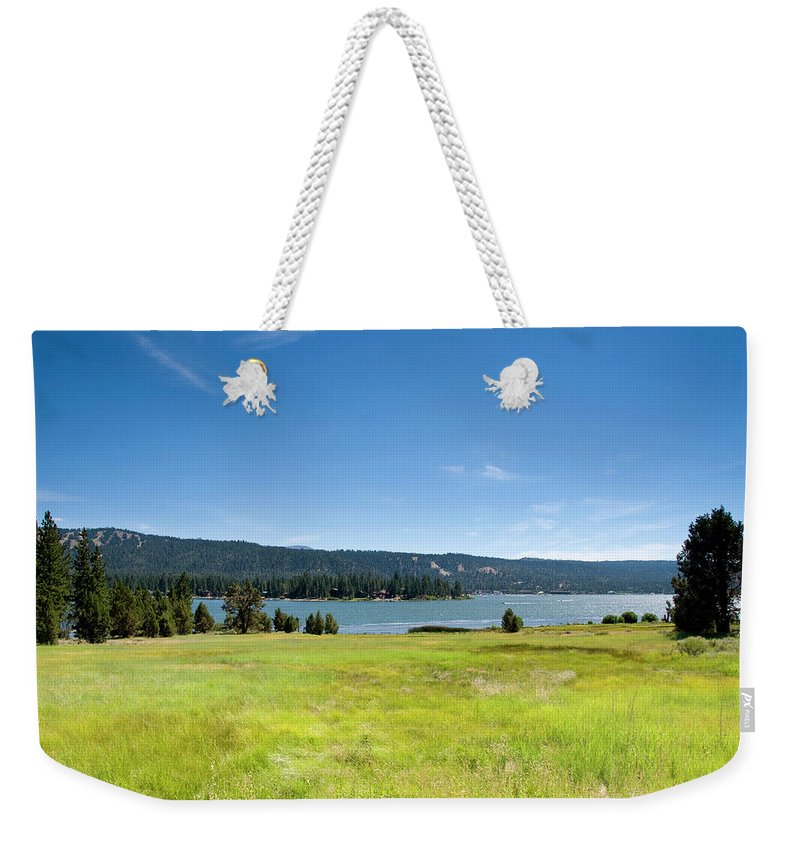 Scenics Weekender Tote Bag featuring the photograph Alpine Mountian Lake And Meadow by Alynst