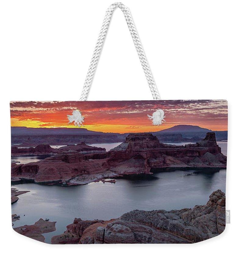 50s Weekender Tote Bag featuring the photograph Alstrom Point by Edgars Erglis